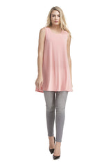 Slvless Swing Tunic Top | Ash Coral