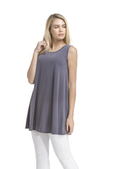 Slvless Swing Tunic Top | Ash Navy