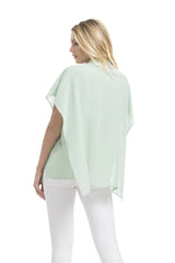 Angelina Poncho Shirt | Mint Green