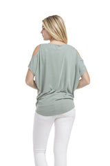 Cold Shoulder Sslv Top | Ash Sage