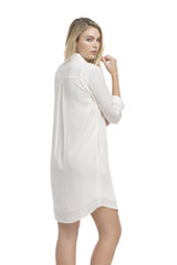 Roll Up Shirt Dress | Ivory
