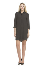 Roll Up Shirt Dress | Black