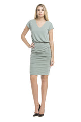 Celine Double Layered Dress | Ash Sage