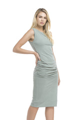 Side Shirred Tank Dress | Ash Sage