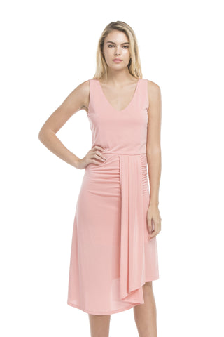 Bottom Pleated Dress | Ash Coral