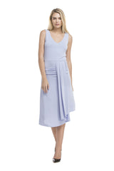 Bottom Pleated Dress | Ash Blue