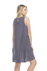 Brigitte Double Layered Dress | Ash Navy