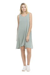 Brigitte Double Layered Dress | Ash Sage