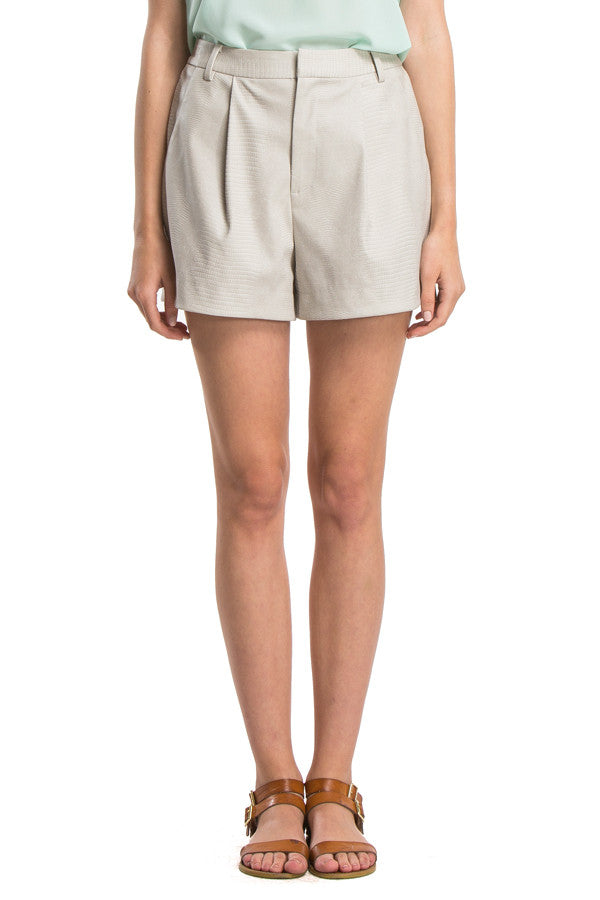 Vegan Leather Shorts | Desert