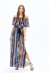 LUBY O/S MAXI DRESS | PURPLE