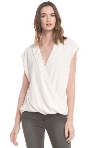 S/S Twist Front Blouse | Ivory
