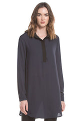 Relaxed Collar Tunic | Navy