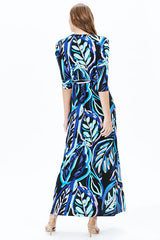 WAVE MAXI DRESS | BLUE
