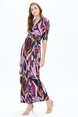 WAVE MAXI DRESS | PURPLE