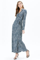 JANE L/S MAXI DRESS | NAVY