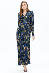 AMY L/S MAXI DRESS | NAVY