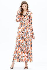 AMY L/S MAXI DRESS | ORANGE