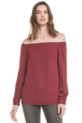 Off Shoulder Blouse | Wine