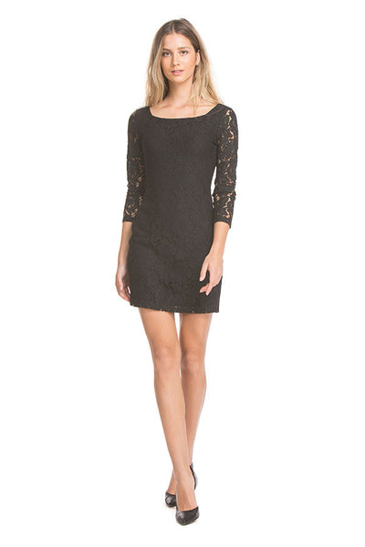 Jackie Lace Dress | Black