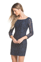 Jackie Lace Dress | Navy