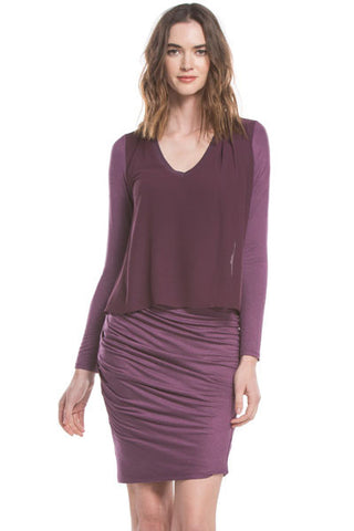Kiko L/S Dress | Dark Orchid