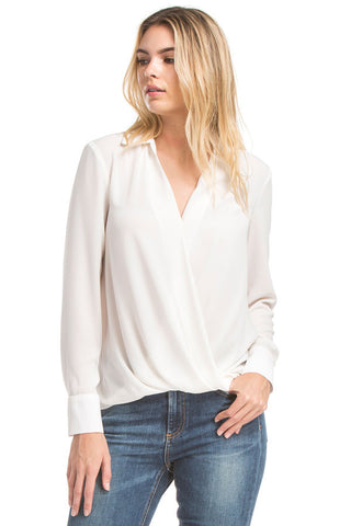Lslv Twsit Front Blouse | Ivory