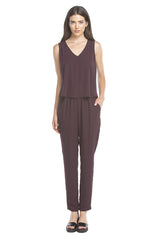 Hailey Jumpsuit | Eggplant