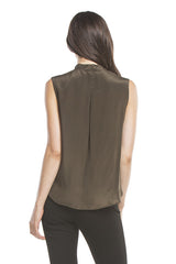 Signature Tie Sleeveless | Olive