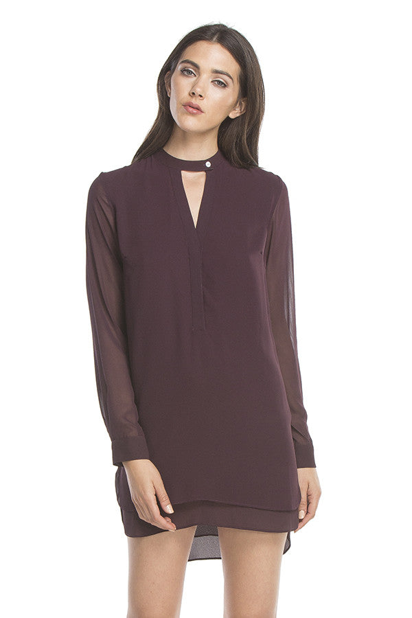 Signature Shirt Dress | Eggplant