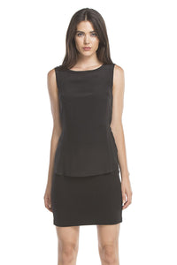 Tess Belted Tank Dress | Black