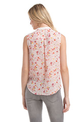 Signature Sleeveless | Wht Floral P