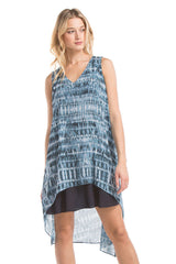 Hailey Asymmetrical Dress | Electric Blue