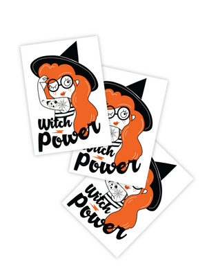 Witch power temporary tattoos