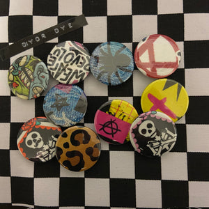 DIY or DYE button badges (5 pack)