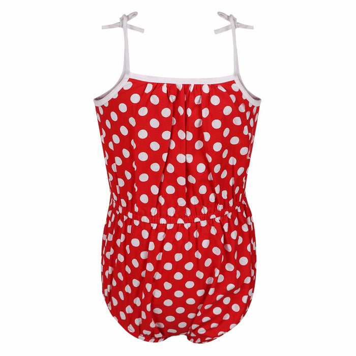 Cotton Printed Small Red Romper for Girls