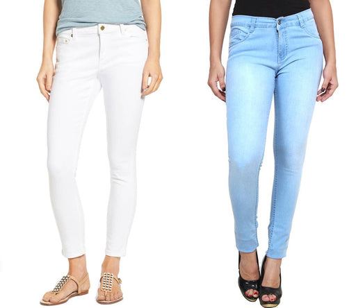 Multicoloured Solid Regular Fit Mid-Rise Jeans Pack of 2