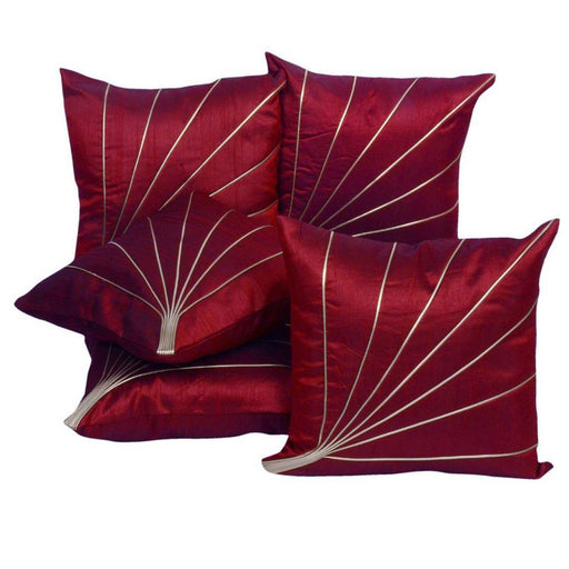Maroon Striped Cushion Covers Pack Of 5