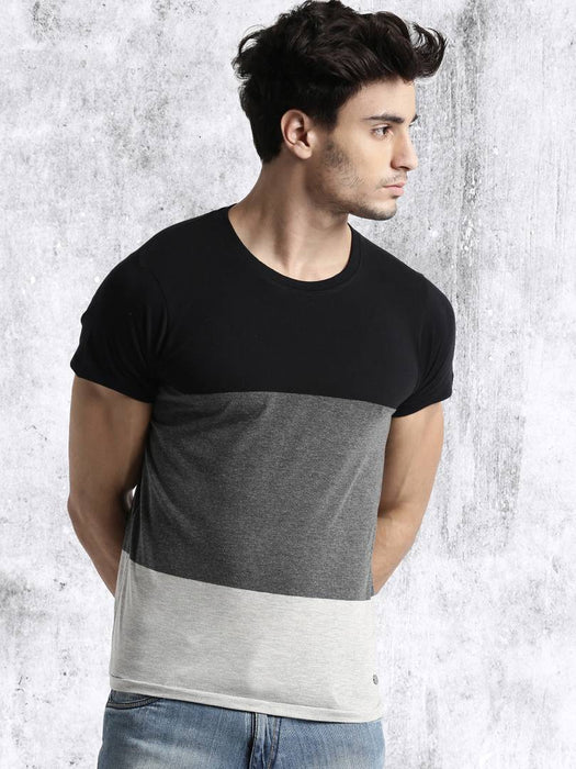 Multicoloured Cotton Half Sleeves T-Shirt