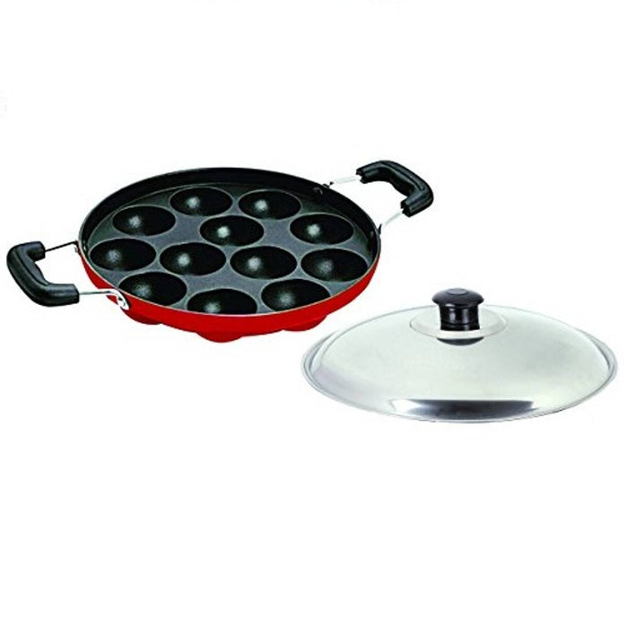 Stainless Non stick Appam Tawa, Red