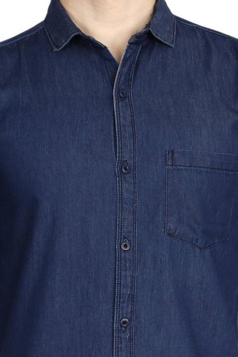 Signature Limited Edition Denim Solid Long Sleeves Casual Shirt