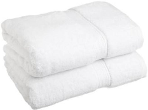 White Cotton Bath Towels Pack Of 2