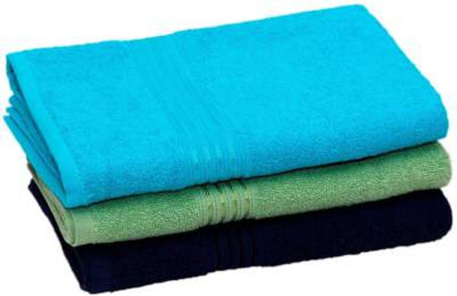 Multicoloured Cotton Bath Towels Pack Of 3