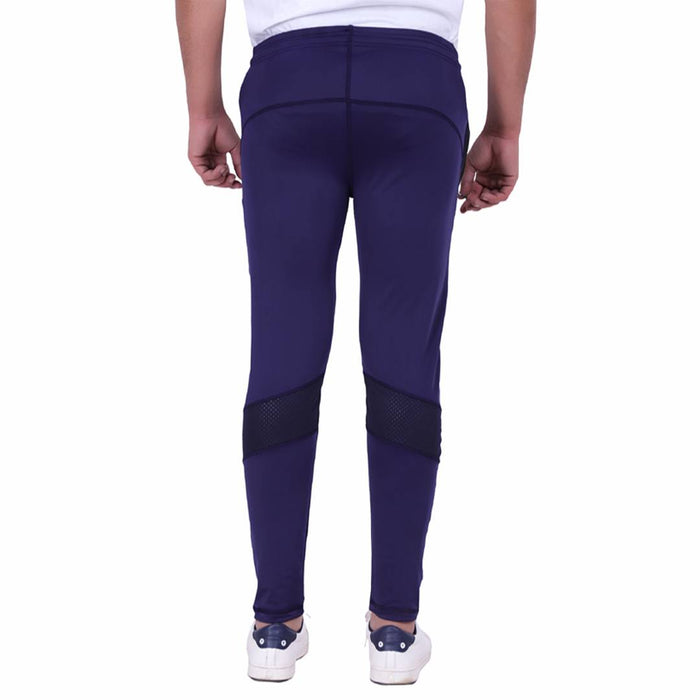 Solid Men's Navy Blue Track Pants