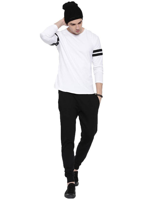 Black Solid Cotton Comfort Fit Joggers