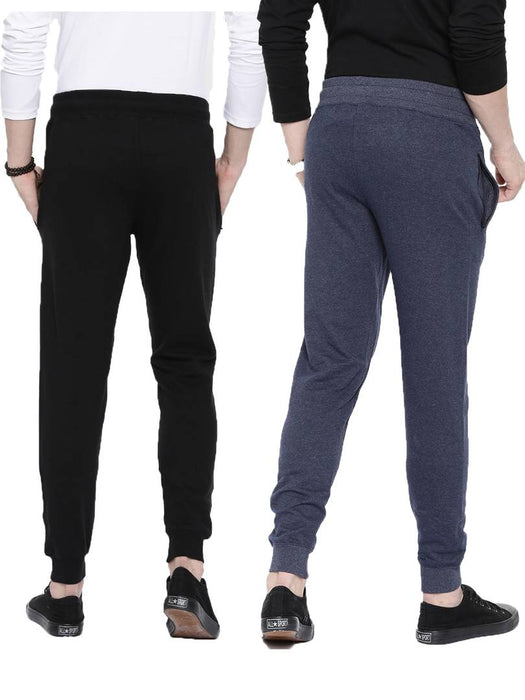 Combo Of 2 Solid Cotton Joggers