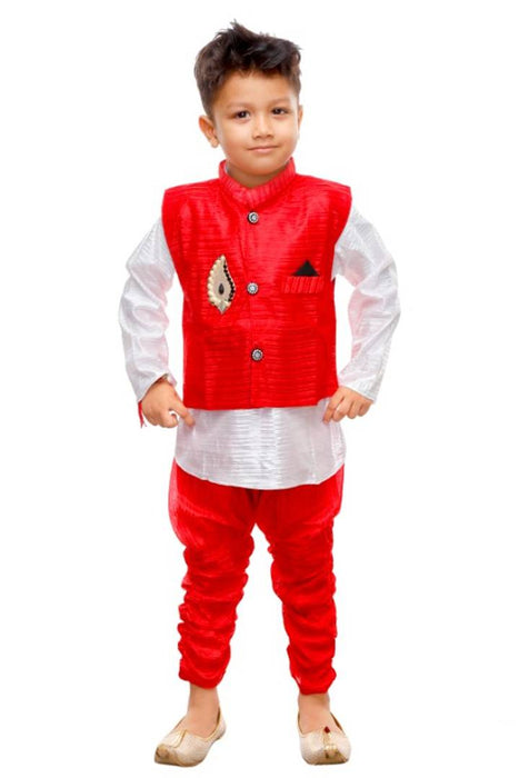 Kids Stylish Ethnic Wear - Modi Jacket, Kurta & Pyjama