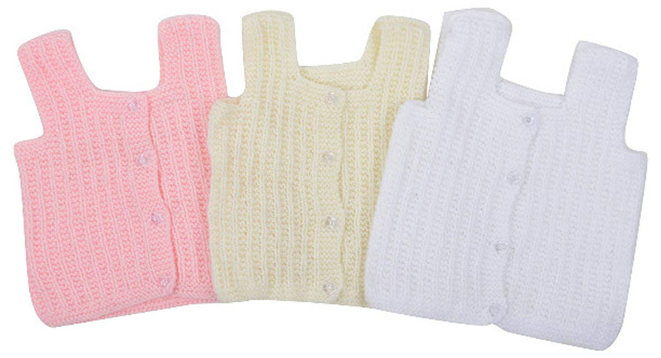 Woollen Hand Knitted Vardhman Wool New Born Baby Vest