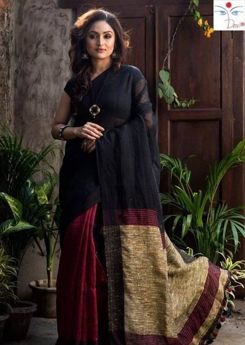Khadi Cotton Saree with Blouse