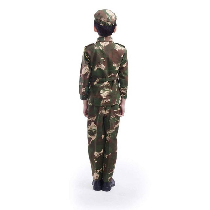 Elegant Cotton Boy's Army Dress Set (4 Pieces)