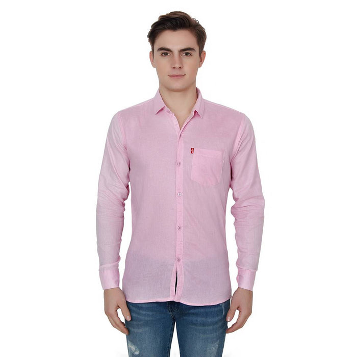 Men's Solid Cotton Full Sleeve Casual Shirt Pack Of 3